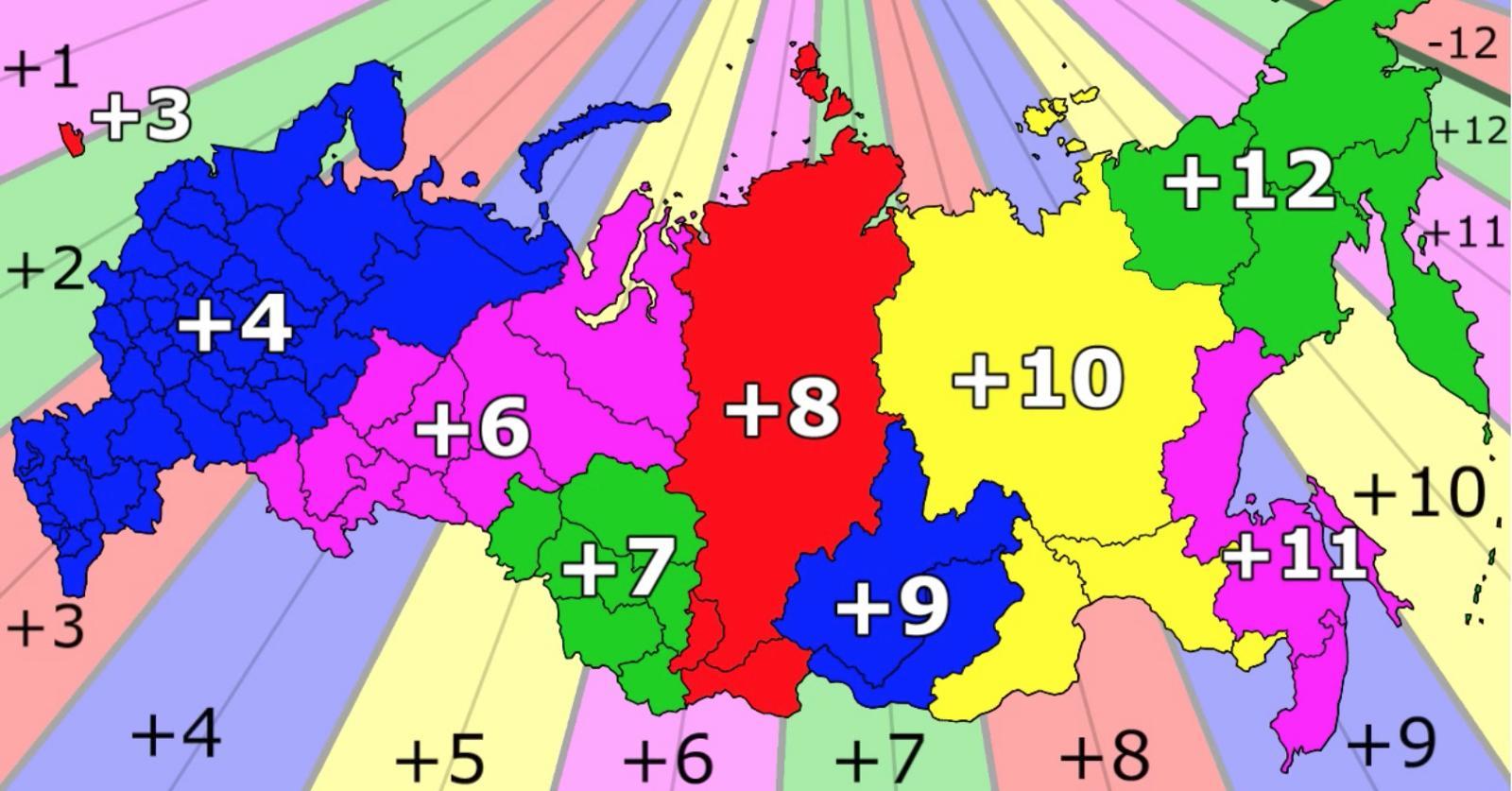 Fusos Horarios Russia Mapa